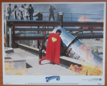 Superman 3, Original Lobby Card #5, Christopher Reeve, Superman saves the day!, '83